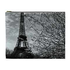Vintage France Paris Eiffel Tour 1970 Extra Large Makeup Purse