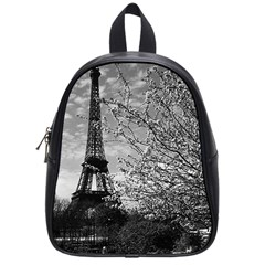 Vintage France Paris Eiffel tour 1970 Small School Backpack