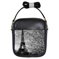 Vintage France Paris Eiffel tour 1970 Kids  Sling Bag