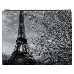 Vintage France Paris Eiffel tour 1970 Cosmetic Bag (XXXL)