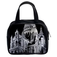 Vintage France Paris The Sacre Coeur Basilica 1970 Twin-sided Satchel Handbag