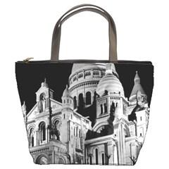 Vintage France Paris The Sacre Coeur Basilica 1970 Bucket Handbag