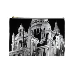 Vintage France Paris The Sacre Coeur Basilica 1970 Large Makeup Purse