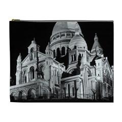 Vintage France Paris The Sacre Coeur Basilica 1970 Extra Large Makeup Purse