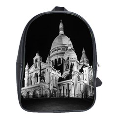 Vintage France Paris The Sacre Coeur Basilica 1970 Large School Backpack