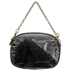 Vintage France Paris champs elysees avenue 1970 Twin-sided Evening Purse