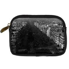 Vintage France Paris champs elysees avenue 1970 Compact Camera Case