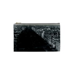 Vintage France Paris Champs Elysees Avenue 1970 Small Makeup Purse