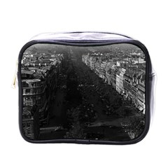 Vintage France Paris champs elysees avenue 1970 Single-sided Cosmetic Case