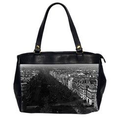 Vintage France Paris champs elysees avenue 1970 Twin-sided Oversized Handbag