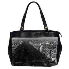 Vintage France Paris Champs Elysees Avenue 1970 Twin Sided Oversized Handbag