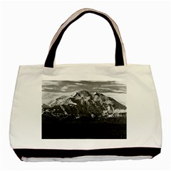 Vintage Usa Alaska Beautiful Mt Mckinley 1970 Twin Sided Black Tote Bag