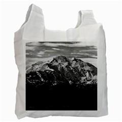 Vintage Usa Alaska Beautiful Mt Mckinley 1970 Single Sided Reusable Shopping Bag