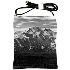 Vintage USA Alaska Beautiful Mt Mckinley 1970 Cross Shoulder Sling Bag