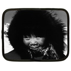 Vintage USA Alaska eskimo child 1970 12  Netbook Case