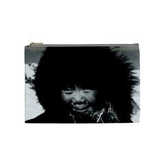 Vintage USA Alaska eskimo child 1970 Medium Makeup Purse