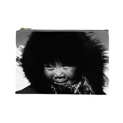 Vintage Usa Alaska Eskimo Child 1970 Large Makeup Purse