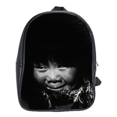 Vintage USA Alaska eskimo child 1970 Large School Backpack