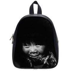 Vintage USA Alaska eskimo child 1970 Small School Backpack