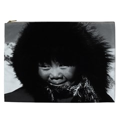 Vintage USA Alaska eskimo child 1970 Cosmetic Bag (XXL)