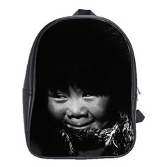 Vintage Usa Alaska Eskimo Child 1970 School Bag (xl)
