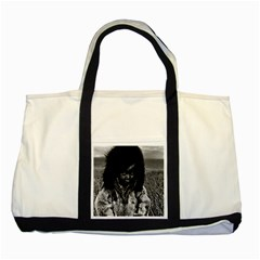 Vintage USA  Alaska eskimo boy 1970 Two Toned Tote Bag