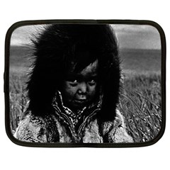 Vintage Usa  Alaska Eskimo Boy 1970 12  Netbook Case