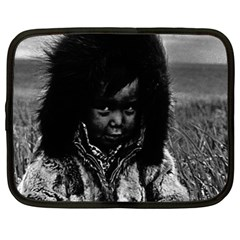Vintage USA  Alaska eskimo boy 1970 13  Netbook Case