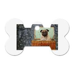 Animal 004 Dog Tag Bone (Two Sides)