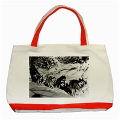 Vintage USA Alaska dog sled racing 1970 Red Tote Bag