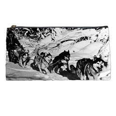Vintage USA Alaska dog sled racing 1970 Pencil Case