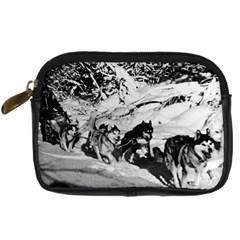 Vintage USA Alaska dog sled racing 1970 Compact Camera Case
