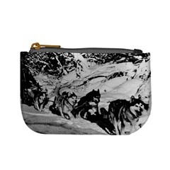 Vintage USA Alaska dog sled racing 1970 Coin Change Purse