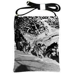 Vintage USA Alaska dog sled racing 1970 Cross Shoulder Sling Bag