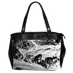 Vintage Usa Alaska Dog Sled Racing 1970 Twin Sided Oversized Handbag
