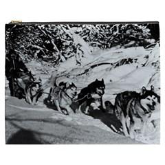 Vintage USA Alaska dog sled racing 1970 Cosmetic Bag (XXXL)