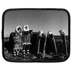 Vintage Fur clad eskimos of arctic alaska bu sod igloo 12  Netbook Case