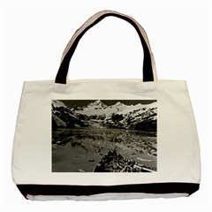 Vintage Alaska glacier bay national monument 1970 Black Tote Bag