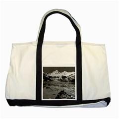Vintage Alaska Glacier Bay National Monument 1970 Two Toned Tote Bag