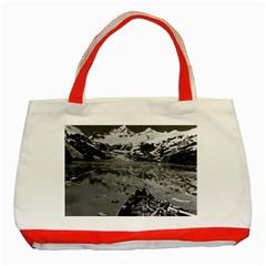 Vintage Alaska glacier bay national monument 1970 Red Tote Bag