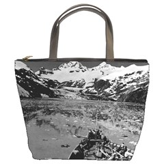 Vintage Alaska glacier bay national monument 1970 Bucket Handbag