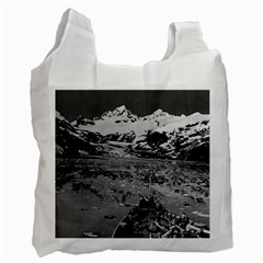 Vintage Alaska Glacier Bay National Monument 1970 Single Sided Reusable Shopping Bag