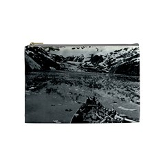 Vintage Alaska Glacier Bay National Monument 1970 Medium Makeup Purse