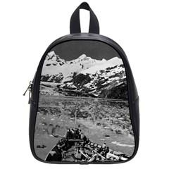 Vintage Alaska glacier bay national monument 1970 Small School Backpack