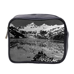 Vintage Alaska Glacier Bay National Monument 1970 Twin Sided Cosmetic Case