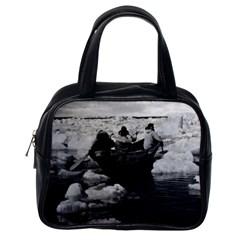 Vintage Usa Alaska Eskimo Hunters 1970 Single Sided Satchel Handbag