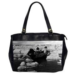 Vintage USA Alaska Eskimo hunters 1970 Twin-sided Oversized Handbag