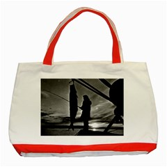 Vintage USA  Alaska float plane fishing 1970 Red Tote Bag