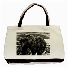 Vintage USA Alaska brown bear 1970 Black Tote Bag