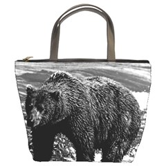 Vintage Usa Alaska Brown Bear 1970 Bucket Handbag